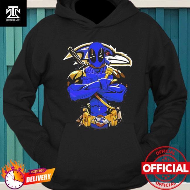 Baltimore ravens deadpool Dc marvel jersey superhero avenger hoodie