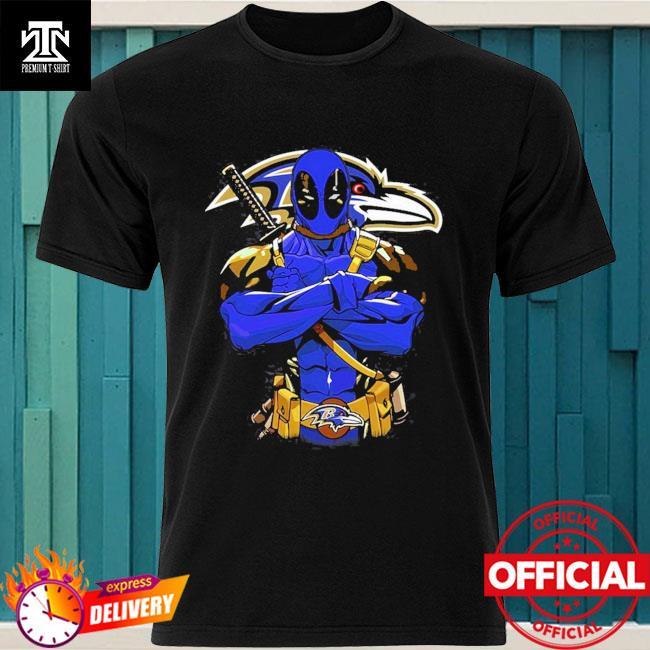Baltimore ravens deadpool Dc marvel jersey superhero avenger shirt
