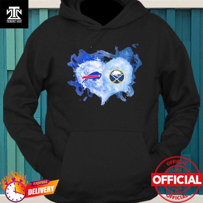 Buffalo Bills And Buffalo Sabres Flaming Heart Fan T Shirt hoodie