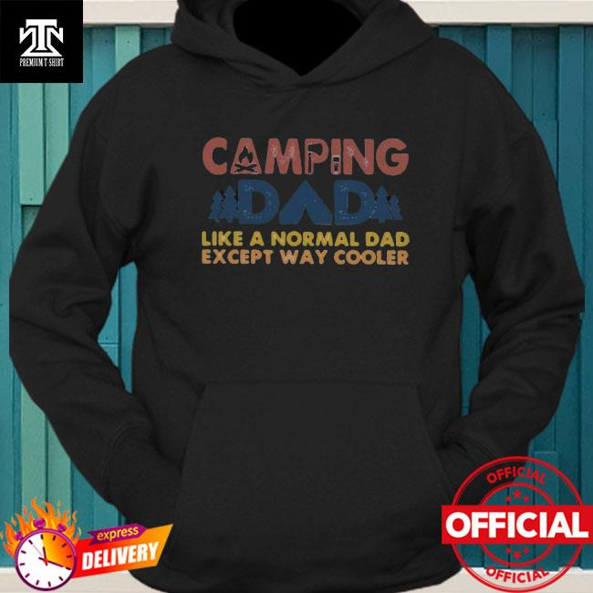 Camping dad like a normal dad except way cooler happy father's day vintage hoodie