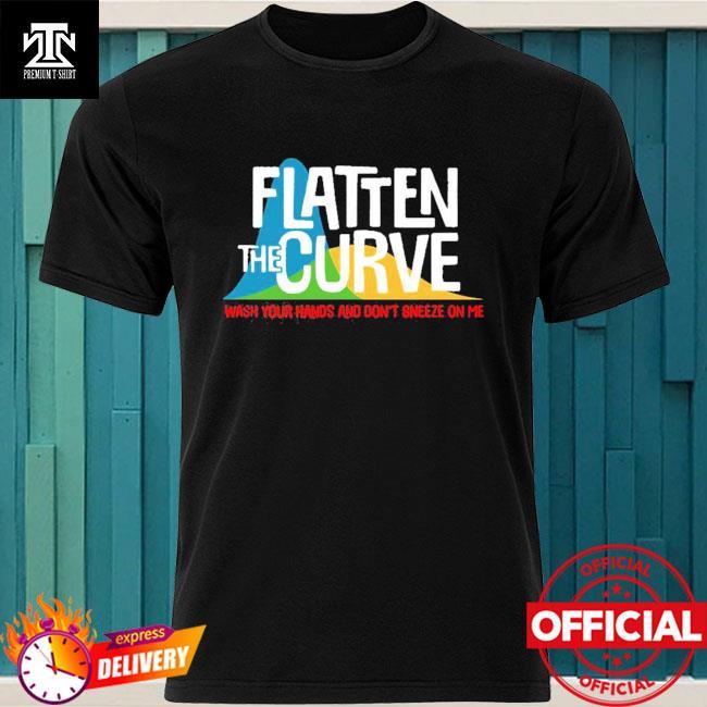 Official Flatten The Curve Public Health Virus Wash Your Hands T-Shirt