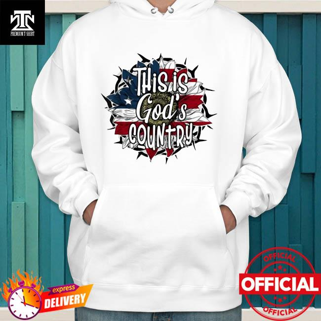 Official This Is God's USA Country American Flag Sunflower Shirt hoodie