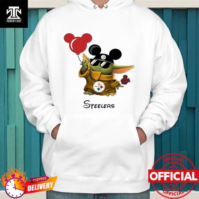 Pittsburgh Steelers Baby Yoda Vacay In Disneyland Fan hoodie