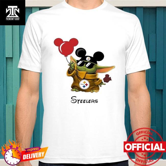 Pittsburgh Steelers Baby Yoda Vacay In Disneyland Fan shirt