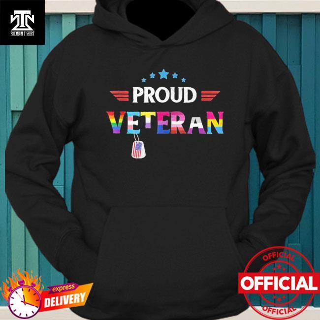 Proud Veteran LGBTQ Rainbow Flag Gay Pride Trans US Army Shirt hoodie