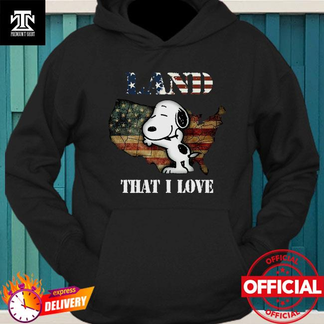 Snoopy Map Land That I Love Shirt hoodie