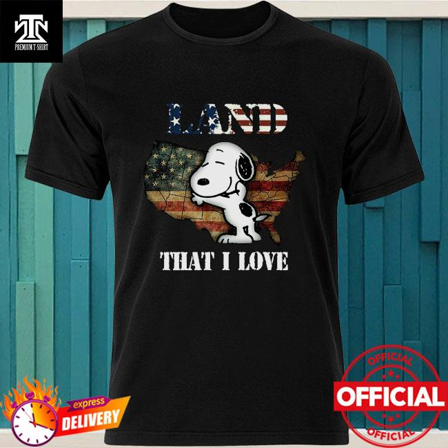 Snoopy Map Land That I Love Shirt