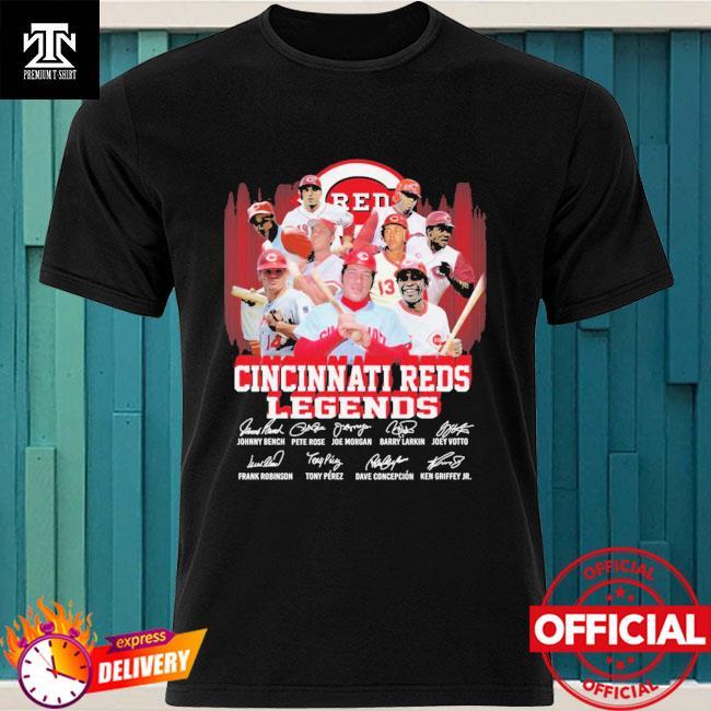 Cincinnati Reds Legends player team signatures shirt