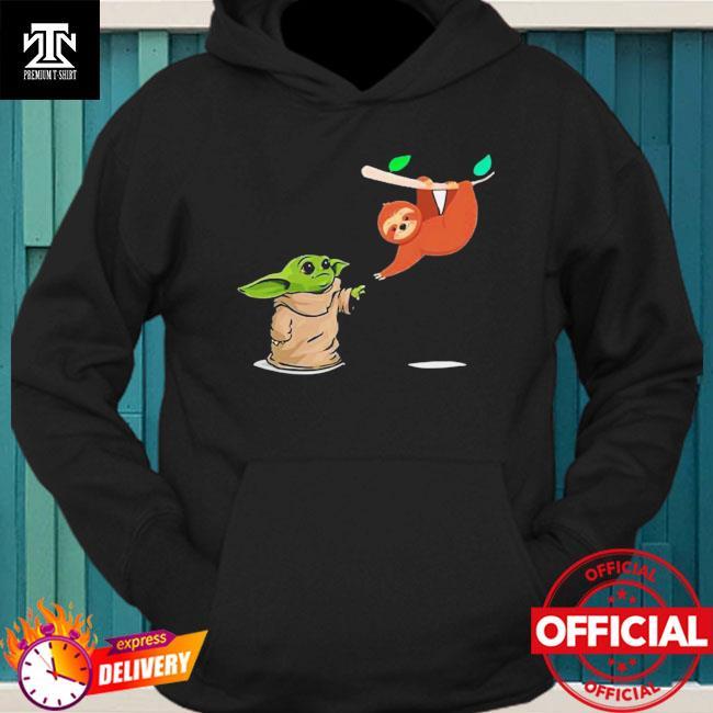 Star Wars Baby Yoda And Sloth Shirt hoodie